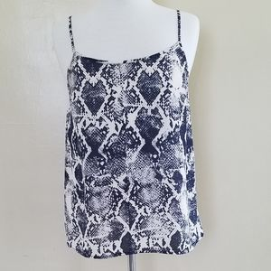 The Limited Light-weight Silky Tank. Snakeskin.